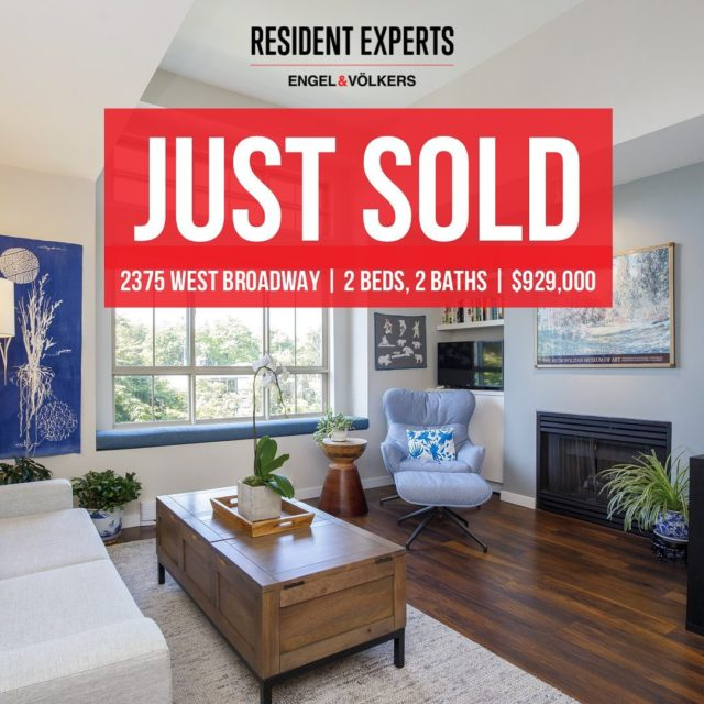 There's no better time to call Kitsilano home. 2375 West Broadway is officially off the market! Keep your eyes peeled for a brand new listing hitting our feeds tomorrow. 👀 #ResidentExperts