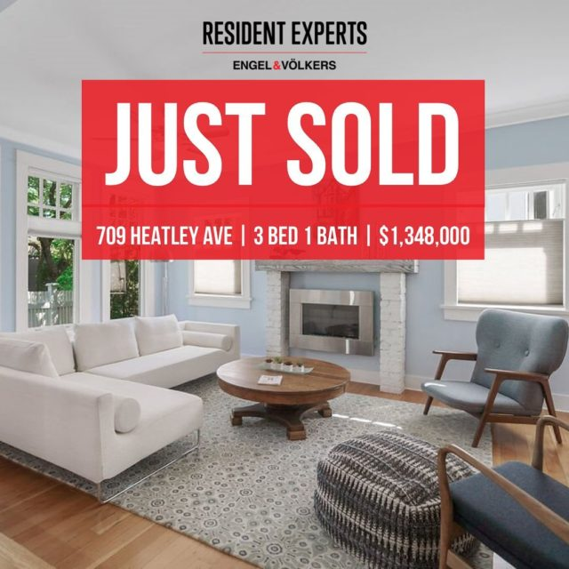 """A big """"welcome home"""" to the brand new owners of 709 Heatley Ave. A charming home on one of Strathcona's most desirable streets - what more could you ask for? #ResidentExperts"""