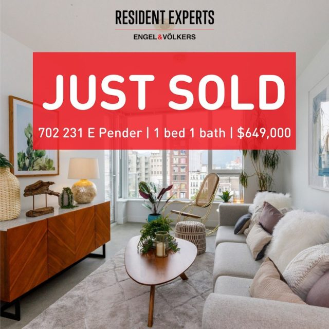 We are thrilled to announce the recent sale at 231 East Pender! This trendy Chinatown location has some of the most dynamic restaurants and shops in the city!  #ResidentExperts
