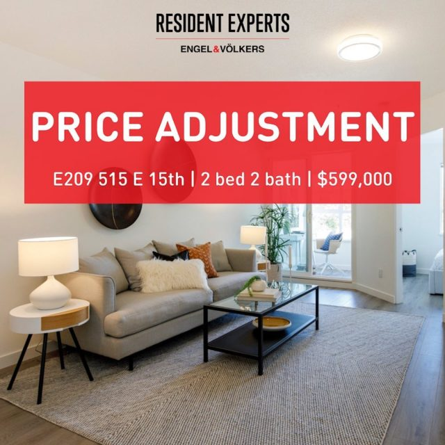 We are excited to announce the recent price adjustment at E209 515 E15th! Incredible value to have 868 sq.ft in one of the most desired neighborhoods in Vancouver. This is an opportunity you don't want to miss! More information via the link in our bio #ResidentExperts