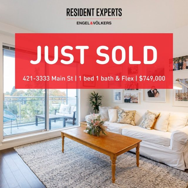 Just sold!  • •  Another great condo has found it's new owners! We are so thrilled for our clients, with being on the market for less than a week and receiving multiple offers. Located in the trendy urban neighbourhood right off Main Street, no wonder this home sold so quickly! The beautiful, open and spacious 1 bed & flex offers enough space for your perfect home office. The best of all? It Includes a rare enclosed private garage with enough space for extra storage and a home gym, because we all need the extra room these days!  📍  421-3333 Main St 💰 $749,000 🛌  1 bed & Flex 🛁  1 bath 📏  739 sq.ft