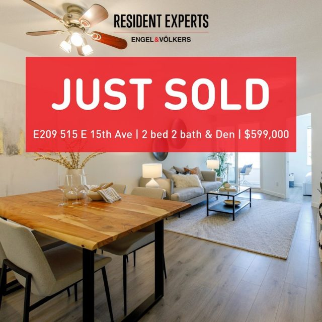 Just sold!  • • Patience prevailed in exceeding expectations for our seller! Another beautiful Mount Pleasant condo has found new homeowners. Thanks to Andrew Ly @andrewandsamrealestate  who was such a pleasure working with from start to finish! Sometimes the importance of a fine tune marketing strategy is what it takes to land the perfect sale.  📍  E209 515 E 15th Ave 💰 $599,000 🛌  2 bed & Den 🛁  2 bath 📏  868 sq.ft