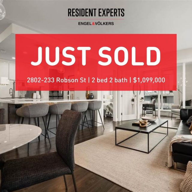 Just sold!  • •  Securing for the right home isn't easy in this competitive market, but we made the magic happen and our client got her hands on this gem!! With sweeping views from every room, this apartment provides the perfect temporary workspace until our client's office space opens up right around the corner. This newly renovated 2 bed & den provides an abundance of room for their home office needs AND the ever necessary Peloton bike. Thank you Johnathan Jones for making this purchase such a smooth transition for our clients!  📍 2802-233 Robson St 💰 $1,099,000 🛌 2 bed & Den  🛁 2 bath 📏 959 sq. ft