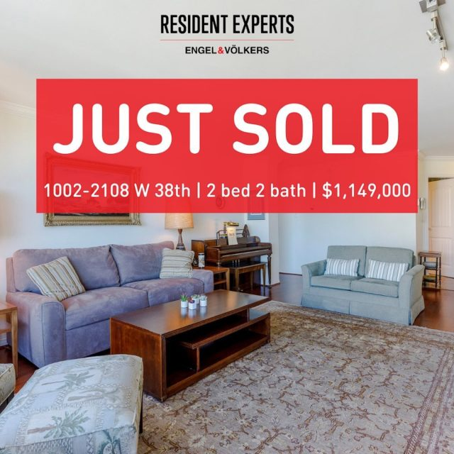 Just sold!  • •  When the typical buyer in a neighbourhood is likely going to be in their later years you know you may have to take extra time and pay special care to their needs. That was the case here when we sold our lovely client's condo to an equally charming couple. Thankfully the wonderful Elena Ngo, who represented the Buyers, worked with us to bring this sale together in a way that left everyone feeling happy with the results. We're lucky to have talented agents, who care, to work with!  📍 1002-2108 West 38th Ave  💰 $1,149,000 🛌 2 bed  🛁 2 bath 📏 1406 sq.ft