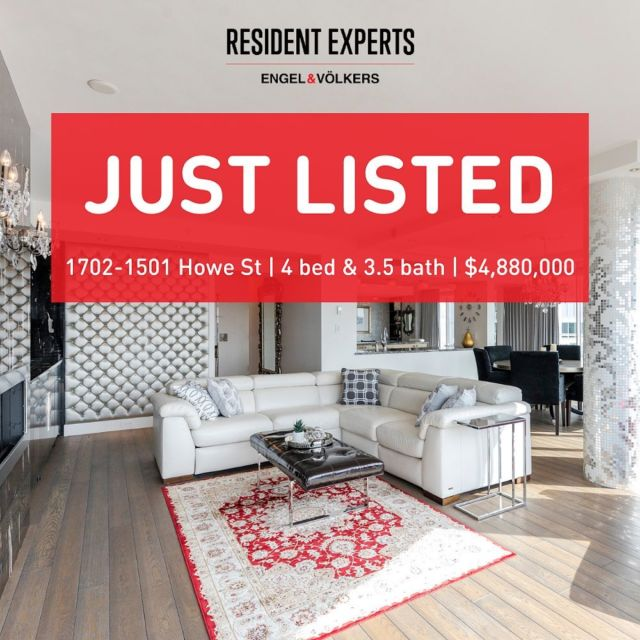 Just listed!  • •  Welcome to the prestigious Ocean Tower located in the exciting Beach District, a world-class waterfront neighbourhood known as Vancouver's most coveted location. A real house in the sky, this rare corner southeast sub-penthouse has breathtaking unobstructed views of False Creek & Granville Island. Enjoy stunning floor to ceiling windows to maximize the spectacular waterfront views.    For comfort and ease, this home comes with infloor radiant heat and A/C which can be enjoyed year-round. These homeowners meticulously planned their extensive $1.1 million luxury renovation with finished elements including Swarovski crystal lighting & drawer handles, custom Bisazza tiles imported from Italy, custom millwork and much more! Ocean Tower is part of 888 Beach, a detail-oriented building with 24-hour concierge, indoor pool, fitness centre, steam/sauna, library and private courtyard.    Situated directly on the seawall, the Beach district has been recently transformed with the addition of the iconic Vancouver House and is home to an eclectic community of superb shops and restaurants. This stunning home is certain to impress the most discerning buyer.    📍1702-1501 Howe St 