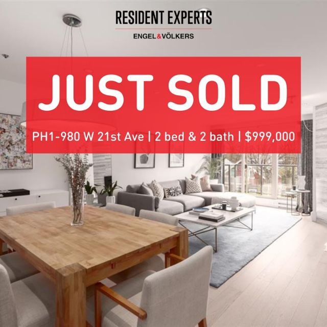 Just sold!   A huge congratulations to our clients on the purchase of their stunning penthouse! This beautifully renovated home hit the market and we were quick to act. Our clients knew exactly what they wanted, were familiar with this challenging market and thus we were able to act quickly to secure this home in multiple offers. We couldn't be happier for our clients on the purchase of their dream home in this fantastic Cambie location!    📍PH1-980 W 21stAve 💰 $999,0000 🛌 2 bed  🛁 2 bath 📏 1088 sq.ft.