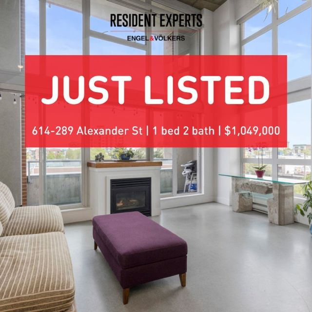 New Listing! • •  A unique & stylish loft at The Edge! Enjoy a fantastic 1072 sq.ft open concept living with soaring 16 ft ceilings. Functional 1 bed & 2 bath with a designated office space and tons of storage considerations. You will truly appreciate the floor to ceiling windows giving an abundance of natural light and showcasing the mountain & Port of Vancouver views! Enjoy a true loft experience with the industrial modern design, updated kitchen and bathrooms, and sleek interior concrete finishing. The Edge building in Railtown is a thriving scene for creative professionals & home to some of Vancouver's best boutique restaurants. Well-maintained building includes a fitness centre, wood shop & metal shop, rooftop garden and more.1 parking & in suite laundry, with storage units available to rent.  🏠 Open House  Saturday July 10th 2:30-4pm  💰 $1,049,000