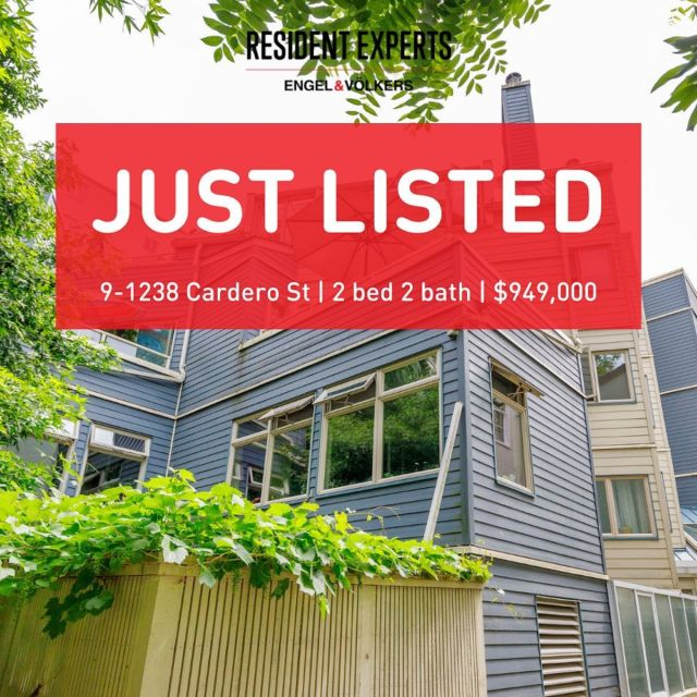Just listed! • •  Welcome to Cardero Court, a collection of 14 unique homes located in thecharmingWest End.This NYC loft-style home has double height ceilings in the spacious sunken living area and bleached,wide plank, flooring throughout,providing a bright, expansive and cool vibe. With2 bedrooms and 2 bathrooms, this condo offers1,125 sq. ft. of living withup to12 ft. high ceilings and large windows providing abundant natural light throughout the home.  Enjoy the tranquility of being located just blocks to Sunset beach in English Bay, while discoveringa fantastic selection of shops and notable restaurants on Davie and Denman, all conveniently locatedjust a few steps away.Explore your neighbourhood, relax on your balcony with friends or sit in front of the cozy fireplace - you won't run out of great options here!Well maintained building which was completely rain screened in 2009. Includes in suite laundry, 1 secure parking & 1 storage locker. Don't miss out on the opportunity to own thisspecial homein the desirable West End!  📍9-1238CarderoSt. 💰$949,000 🛌2 bed 🛁2 bath 📏1,125sq.ft.