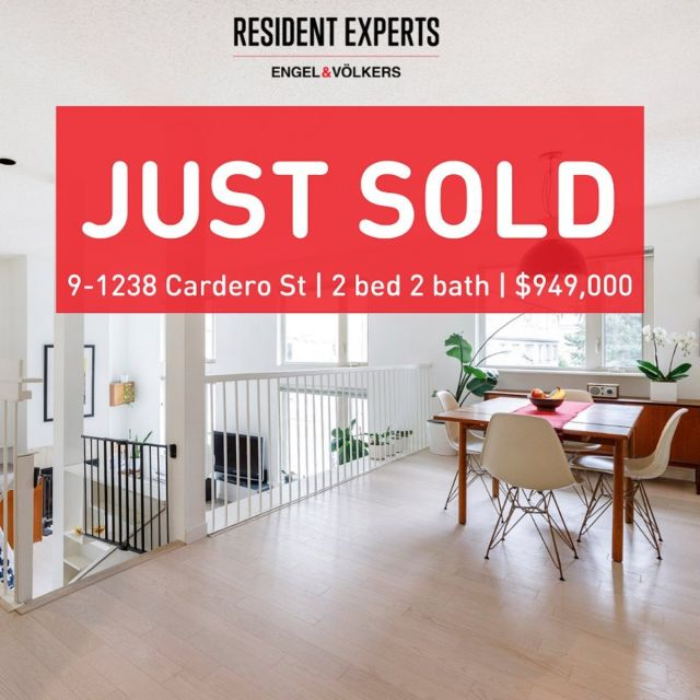 """Just sold!  • •  SOLD! In this market, it can be challenging to know if you should set an offer date or not. We have developed a way of circumnavigating this issue that allows our clients ultimate flexibility while still getting as many interested buyers to the table as possible. This sale came together like a well-tuned machine thanks to """"sticking to the plan"""". Our clients worked hard to get their place looking picture perfect and they and the new owners all walked away happy which is always the best end result! Congrats to all! @davidrichardson.realtor  📍9-1238 Cardero St 💰$949,000 🛌2 bed 🛁2 bath 📏1125 sq.ft."""