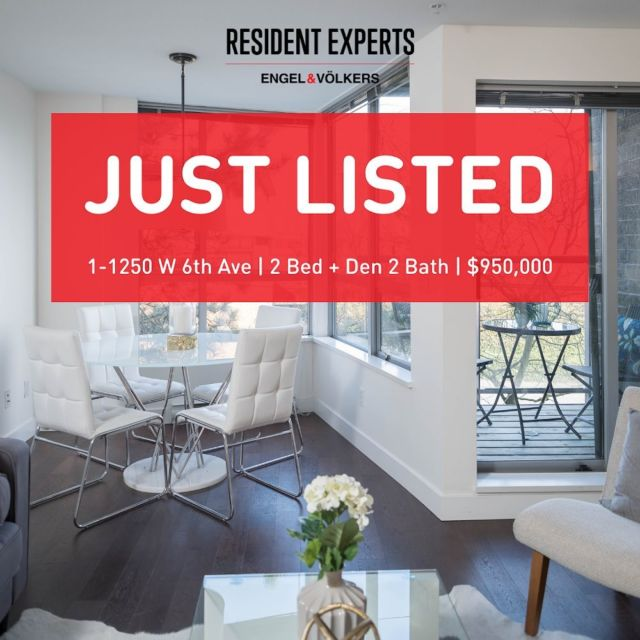 Just Listed! • •  Looking for your own front door?! Look no further, we have the perfect townhouse nestled in the heart of Fairview Slopes. This open and functional 984 sq. ft end unit townhome is an exceptional find. Comprised of 2 beds + den & 2 full bath; this makes the perfect home for upsizers looking for a bit of additional space.  You will truly appreciate the separation of bedrooms on each split level making the home feel extra spacious & functional. You will be drawn to the inner courtyard entrance that gives a sense of privacy and security. This home gets exceptional cross breeze having doors and windows on the North and South side of the home.Enjoy your morning coffee while taking in the mountain & city views or afternoon sun from one of your many private outdoor spaces. The master suite is very spacious which can easily accommodatea king-sized bedand is outfitted with a fabulous walk-in closet and a bonus den which is perfect for a nursery or your home office needs.  Enjoy the luxuries of this accessible location, living just steps to the seawall, Granville Island, Charleson Park & much more! Just steps away from public transit on West 6th making for easy accessibility in and out of the city. Comes with 1 parking & 1 storage locker with in-suite laundry. Pets (2) and Rentals (min 1 year) welcome. Don't miss the opportunity to own this Fairview gem!   📍1-1250 W 6th Ave  💰$950,000 🛌2 Bed + Den 🛁2 Bath 📏984 sq.ft.